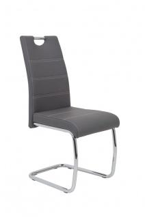 Esszimmerstühle Stuhl Freischwinger 4er Set ELENI Grau