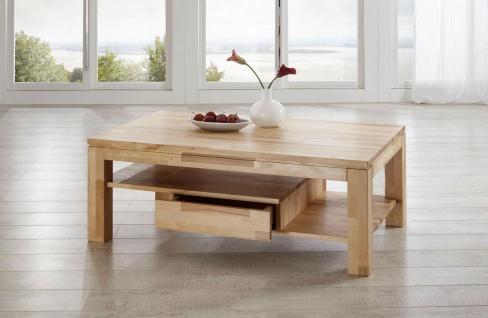 Couchtisch Tisch NIELS Wildeiche vollmassiv /Echtholz 110 x 70 cm - Vorschau 1