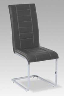 Esszimmerstühle Stühle Freischwinger 4er Set - VELO - Grau