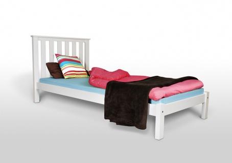 Tagesbett Bett - Napoli - Kiefer Weiss 90x200 cm ohne Rollrost