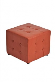 Sitzwürfel Sitzhocker - Cosimo - Hocker : Kunstleder Cognac 44x44 cm