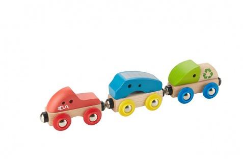 Holzspielzeug - Umweltfreundliche Stadtbahn