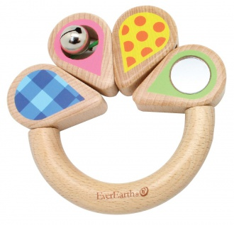 Holzspielzeug - Greifring Pinkes Blatt