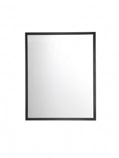 Badezimmer Spiegel ATLANTA Schwarz matt