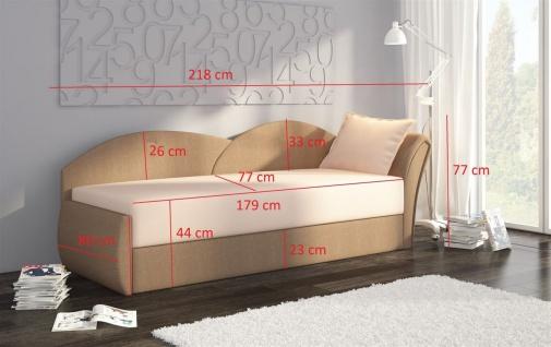 Sofa Schlafsofa inklusive Bettkasten ALINA / L - Gelb / Muster - Vorschau 2