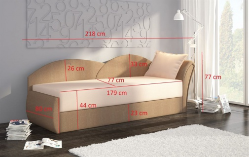 Sofa Schlafsofa inklusive Bettkasten ALINA / R- Limette / Grün - Vorschau 2