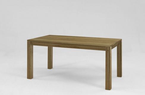 Esstisch Tisch mit Gestellauszug RUDEN 200/ 300 x 100 cm Eiche massiv