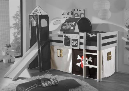 Vorhang 3.tlg Pirat /Schwarz für Spielbett Hochbett Etagenbett
