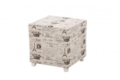Sitzwürfel Sitzhocker - Paris 2 - Hocker Sessel Bezug : Stoff 40x40 cm