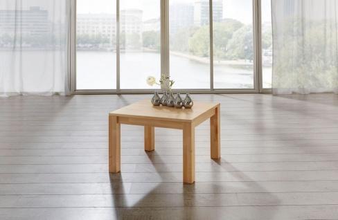 Couchtisch Tisch MALTE Eiche vollmassiv / Echtholz 80 x 80 cm