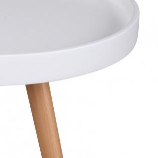 Beistelltisch Tisch ALVA 50x50 cm Weiss matt/ Buche - Vorschau 4