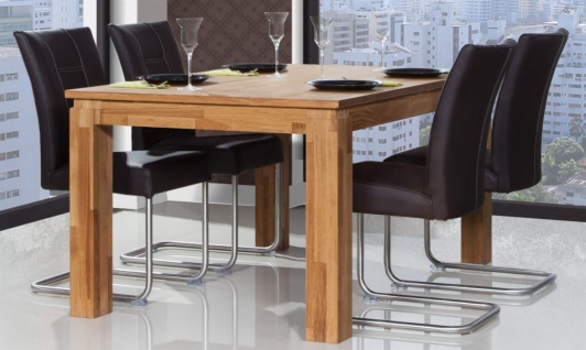 Esstisch Tisch MAISON Eiche massiv 130x80 cm