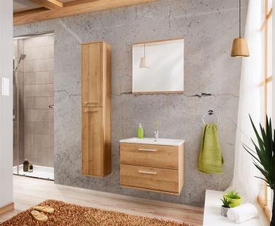 Badmöbel 3-tlg Badezimmerset WENDO Eiche inkl.Waschtisch 60cm - Vorschau 1