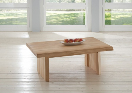 Couchtisch Tisch KELD Eiche Massivholz 120x80 cm