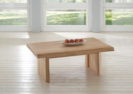 Couchtisch Tisch KELD Eiche Massivholz 140x80 cm