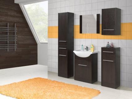 Badmöbel Set 6-Tlg Wenge matt SEVILLA L inkl.Waschtisch - Vorschau 4