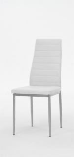 Esszimmerstühle Stühle Vierfußstuhl 4er Set SARIN Weiss