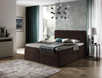 Boxspringbett Schlafzimmerbett WILLIAM 100x200cm in Stoff