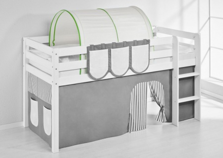 Tunnel Grün Beige - für Hochbett. Spielbett und Etagenbett