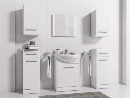 Badmöbel Set 7-Tlg Weiss matt PERM Nr.4 inkl.Waschtisch - Vorschau 2