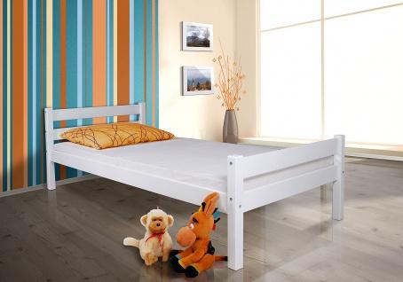 """Tagesbett-Bett """" Helga"""" Kiefer Massiv/Weiss- Lackiert 90x200 cm ohne Lattenrost"""