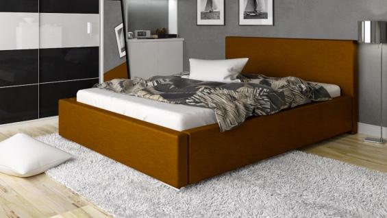 Polsterbett Bett Doppelbett NELIO XS 160x200cm inkl.Lattenrost