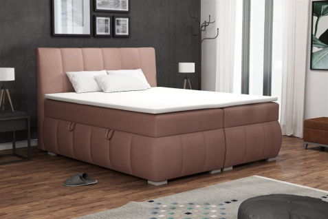 Boxspringbett Schlafzimmerbett VINCENZA 160x200cm inkl.Bettkasten
