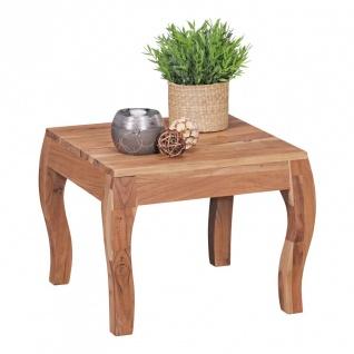 Couchtisch Massivholztisch RONNY 50x50 cm Holz Akazie