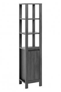 Badezimmer Hochschrank 185x40x35 cm KLASSIK Antik Grau
