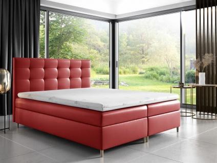Boxspringbett Schlafzimmerbett ARVID 120x200cm Kunstleder Rot