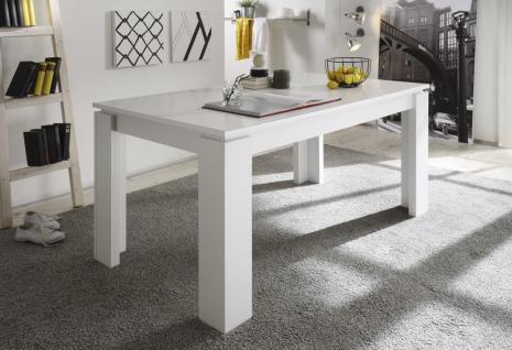 Esstisch Tisch Auszugstisch - DAV - 160-200 x 90 cm Weiss