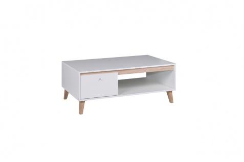 Couchtisch Tisch KALMAR 120x46.5x65 cm in Weiss matt