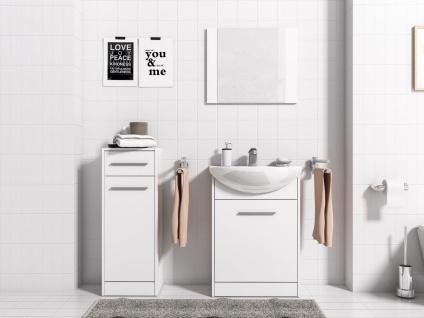 Badmöbel Set 4-Tlg Weiss matt PERM Nr.3 inkl.Waschtisch - Vorschau 2