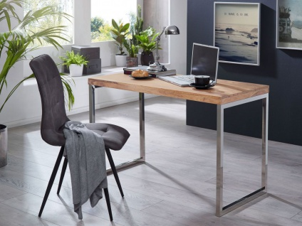 Schreibtisch Computertisch Bürotisch NUKA 120x60x76 cm Holz Akazie