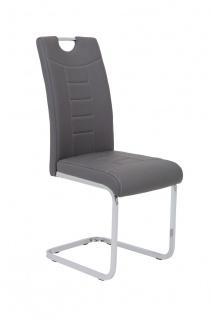 Esszimmerstühle Stuhl Freischwinger 4er Set RUBEN Grau