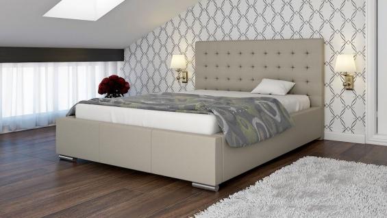 Polsterbett Bett Doppelbett MANILO L 160x200cm inkl.Lattenrost