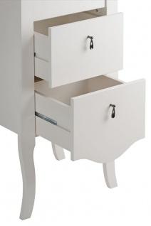 Badmöbel Set 4-tlg ELIZA Massivholz Weiss inkl.Waschtisch 80 cm - Vorschau 4