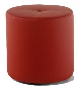 Rundhocker Sitzhocker Schminkhocker Hocker Sessel Kunstleder Rot 43 x 43 cm