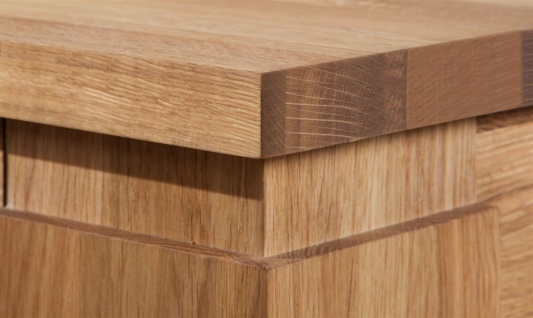 Esstisch Tisch MAISON Eiche massiv 100x80 cm - Vorschau 3