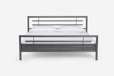 Metallbett Bett STEEL Nr.01 Silber Lackiert 100x220 cm - Vorschau 4
