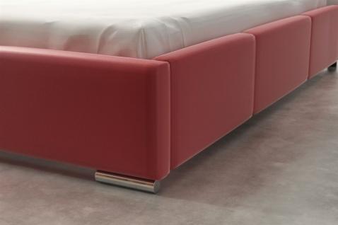 Polsterbett Bett Komplettset SULTAN Kunstleder Rot 160x200cm - Vorschau 3