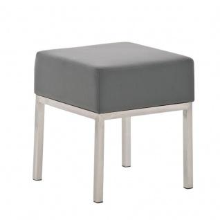 Sitzhocker - LONI 2 - Hocker Sessel Kunstleder Grau 40x40 cm