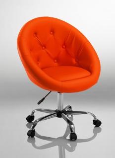 Drehstuhl Bürostuhl Drehhocker - Nr 30 - Kunstleder - Orange