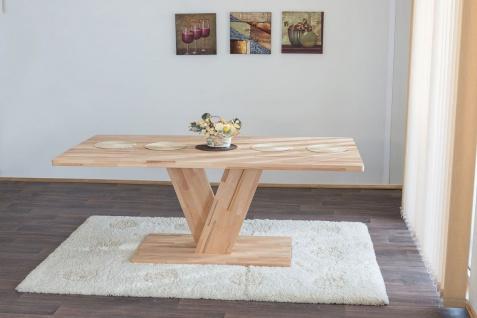 Esstisch Tisch TRIEST Wildeiche vollmassiv Echtholz 180 x 90 cm