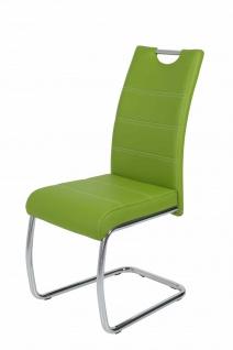 Esszimmerstühle Stuhl Freischwinger 4er Set ELENI Grün
