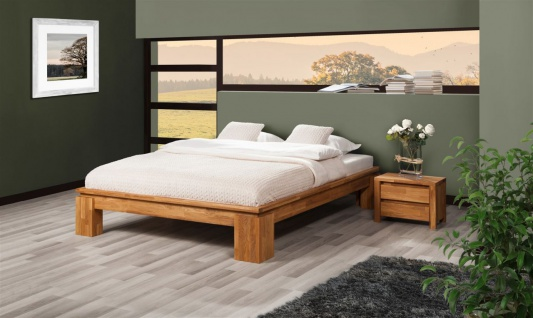 Futonbett Bett Schlafzimmerbet MAISON XL Eiche massiv 160x200 cm