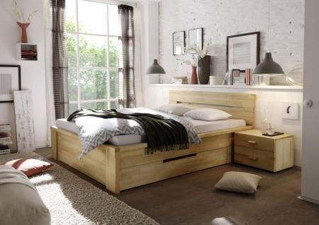 Massivholzbett Schlafzimmerbett - RONI - Bett Kernbuche 160x200 cm
