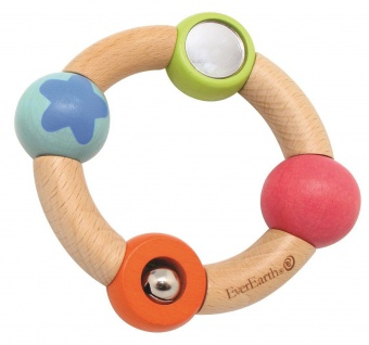 Holzspielzeug - Baby Greifring Sternchen