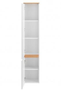 Badmöbel Set 3-tlg Badezimmerset PLATIN Weiss HGL ohne Waschtisch - Vorschau 2