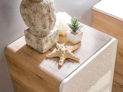 Badmöbel Set 7-tlg Badezimmerset FERMO Weiss HGL ohne Waschtisch - Vorschau 3